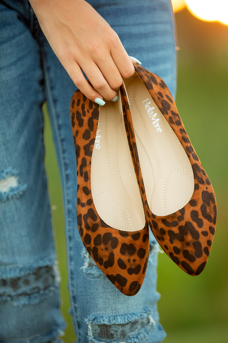 Bella Marie Yours Truly Flats in Animal Print