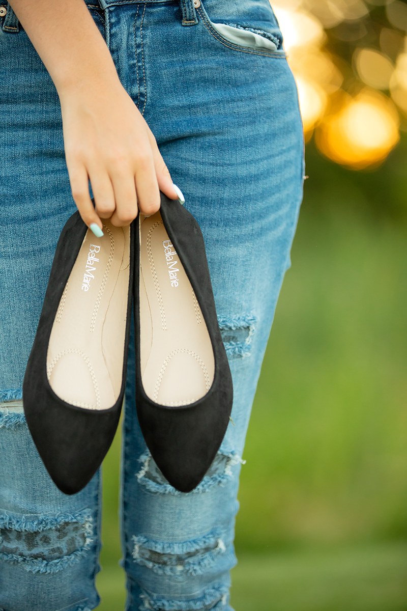 Bella Marie Yours Truly Flats in Black