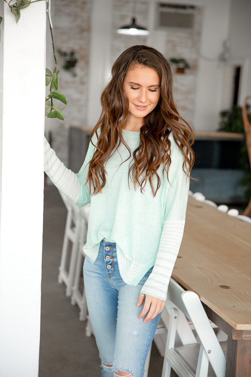 No Surprise Sweater in Mint