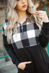 Tell Me That It's Over Buffalo Plaid Quarter Zip