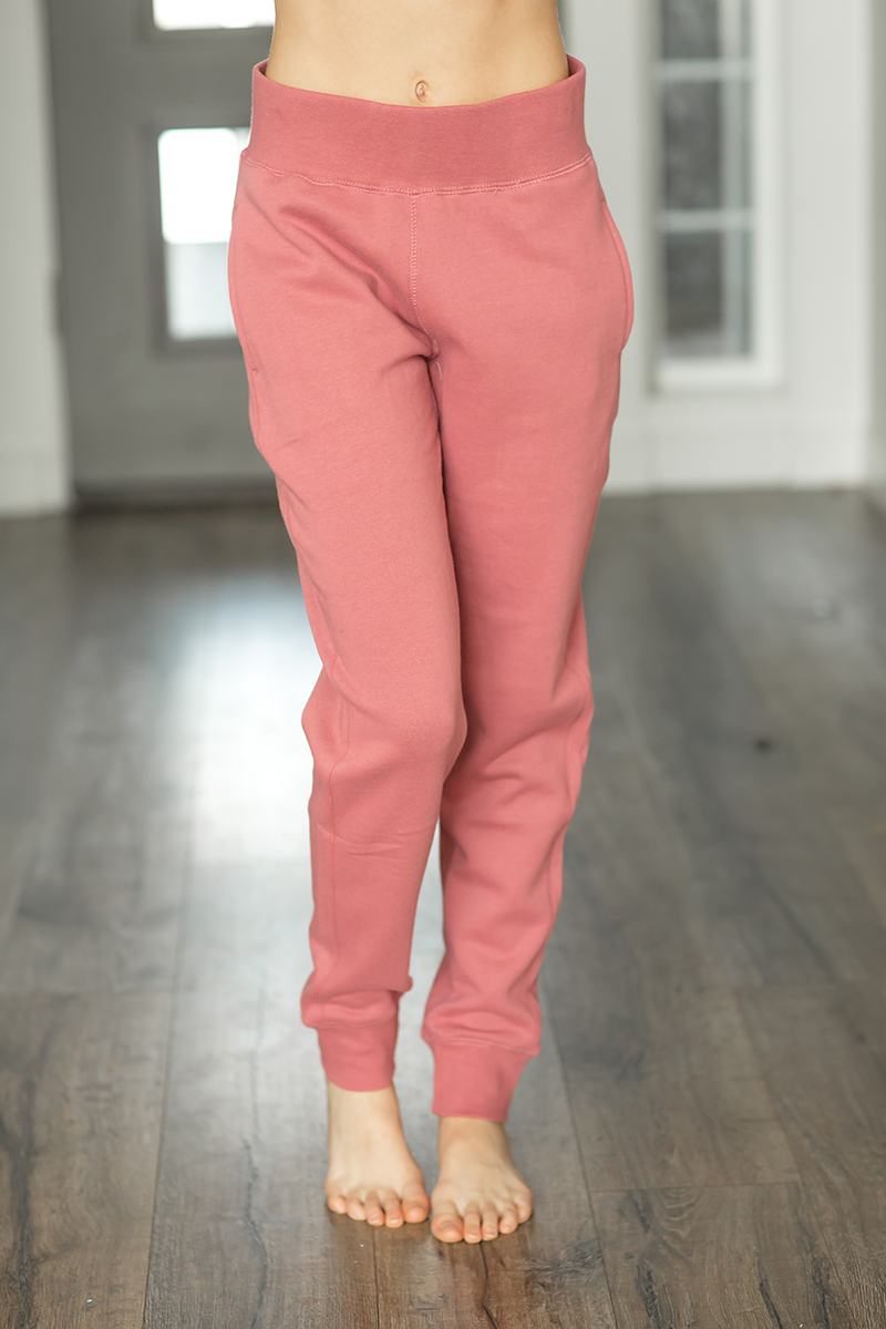 Lazy Days Joggers in Dusty Mauve