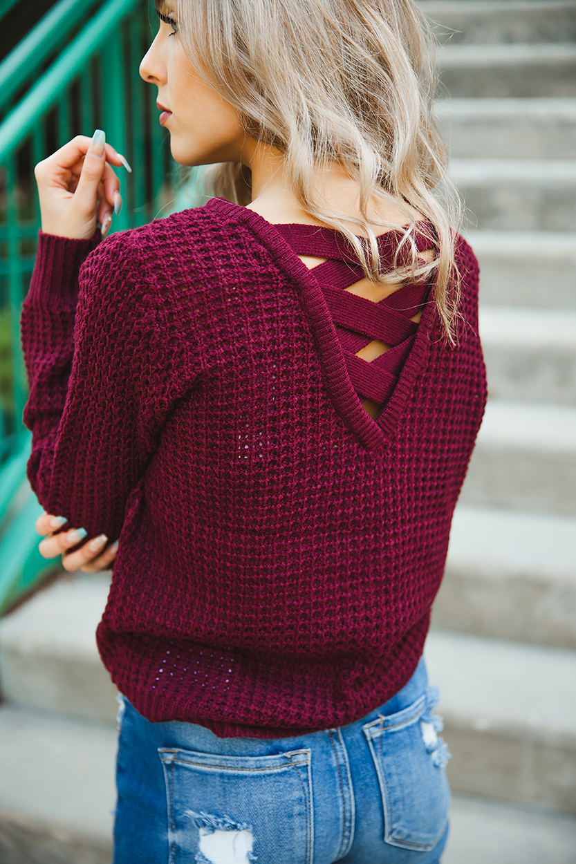 Paparazzi Sweater in Burgundy