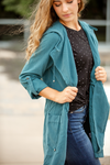 Made For You Jacket in Teal Blue