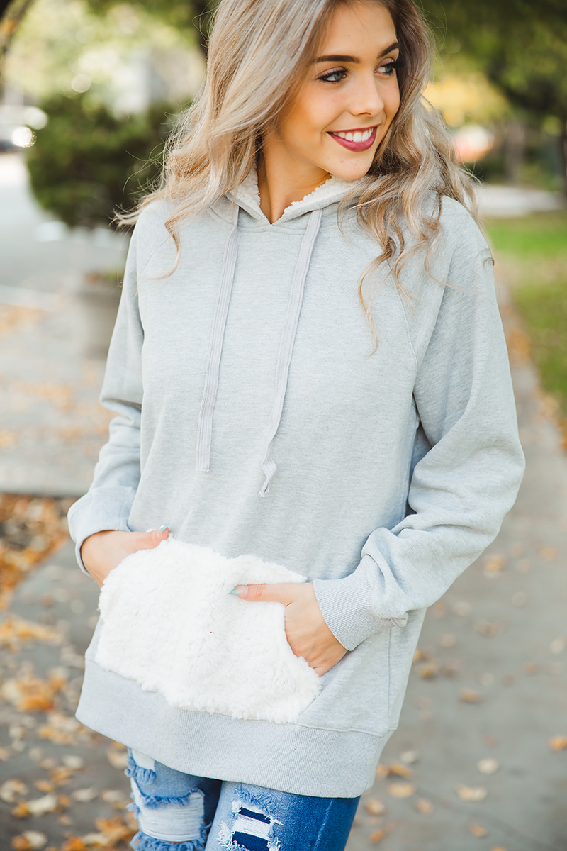 Love You Forever Hoodie with Sherpa Details
