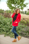 Everyday Cardigan in Red