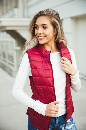 Follow Your Fears Puffer Vest in Wine