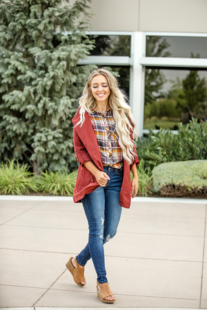 Made For You Jacket in Maroon