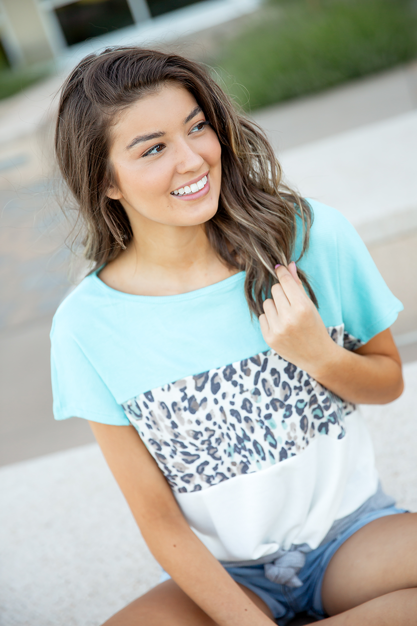 Close To My Heart Wild Animal Print Top