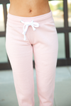 Cute and Comfy Joggers in Blush Pink