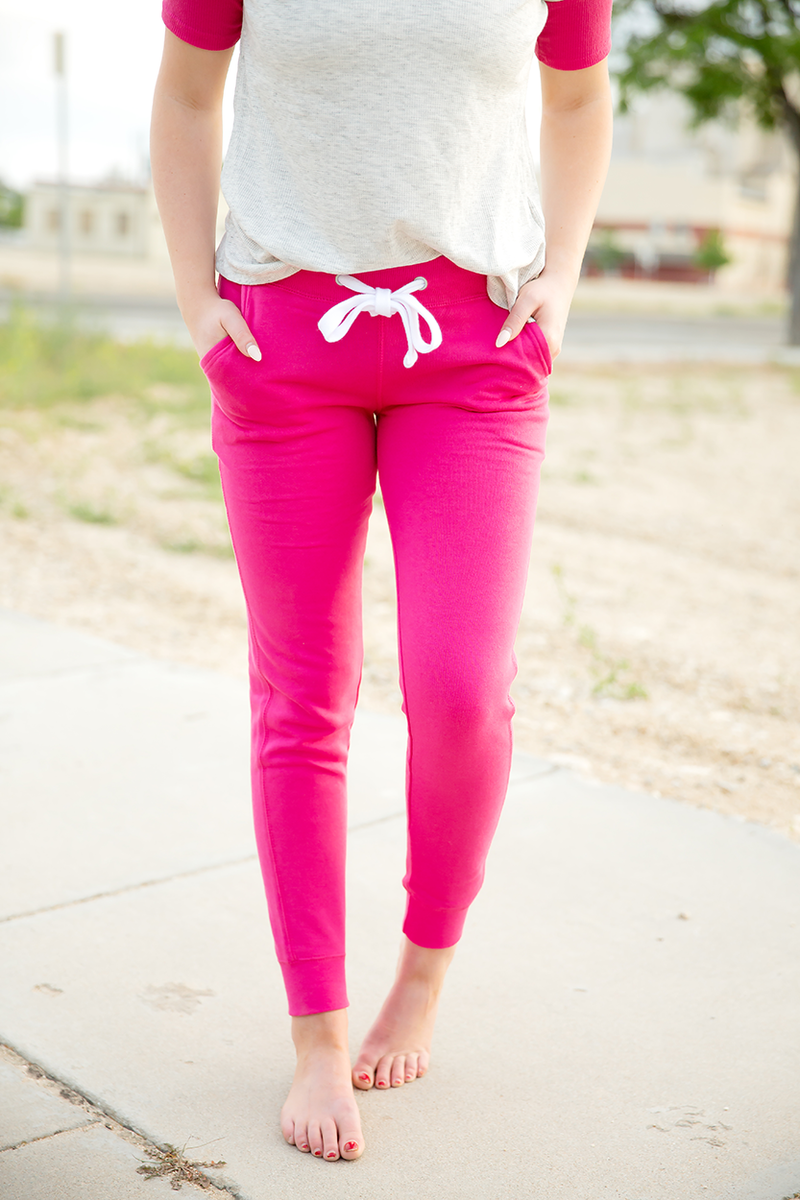 Cute and Comfy Joggers in Fuchsia