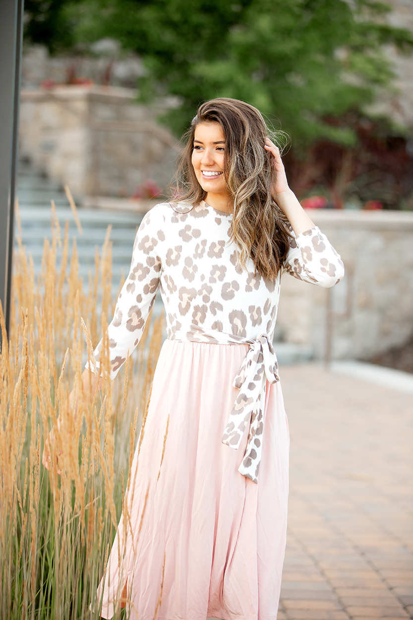 Life is Beautiful Blush Animal Print Dress