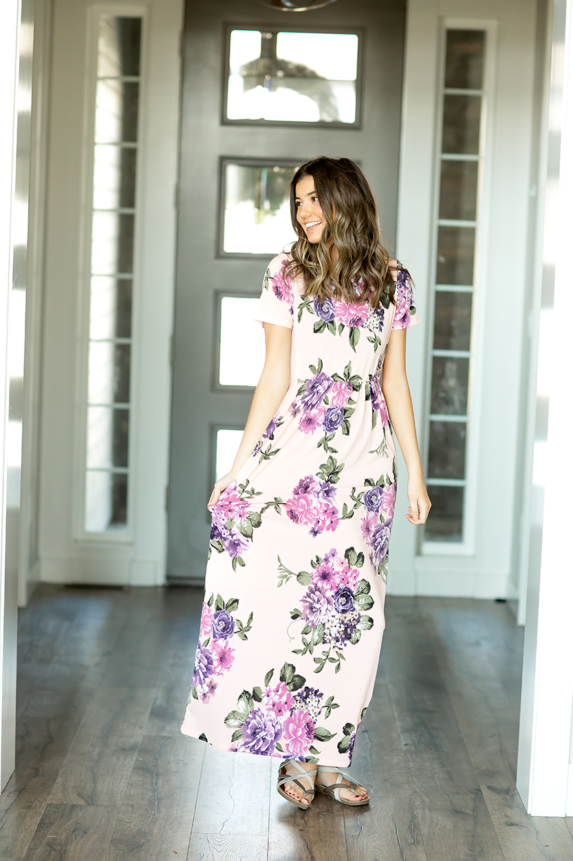 Forever Chic Maxi Dress in Light Pink