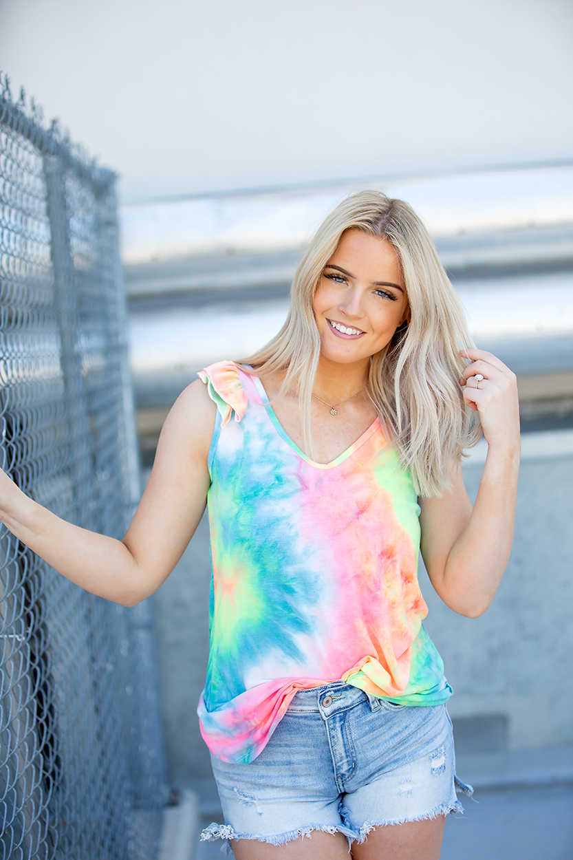 My Bright Life Tank in Neon Tie Dye