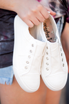 Playful in White Gypsy Jazz Sneakers