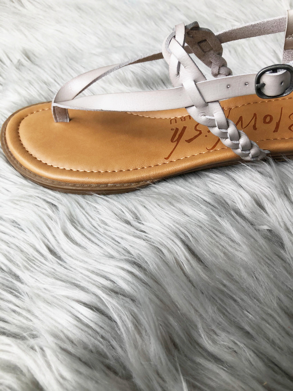 Style and Comfort Blowfish Sandals in Gray