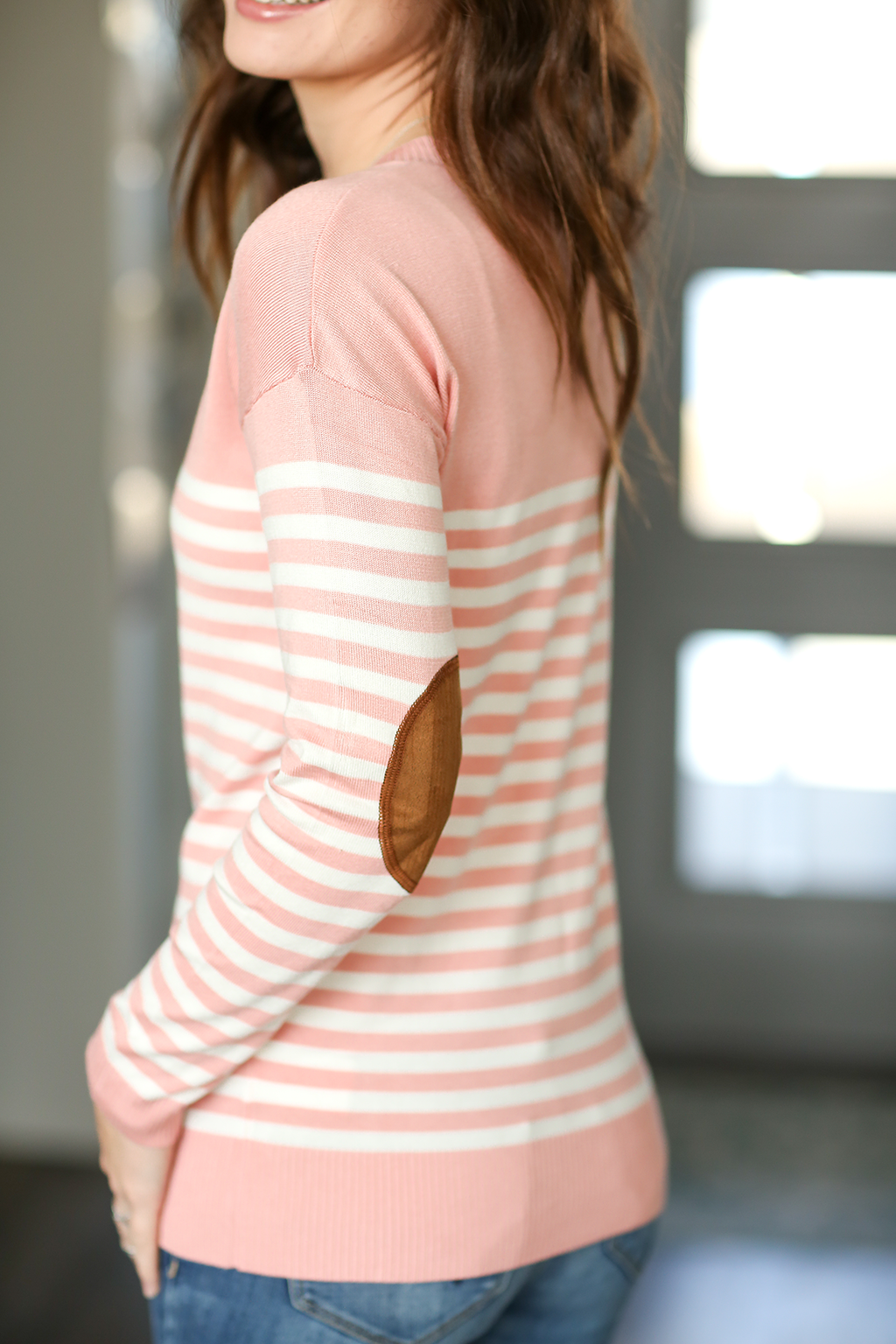 This Is It Striped Sweater in Blush