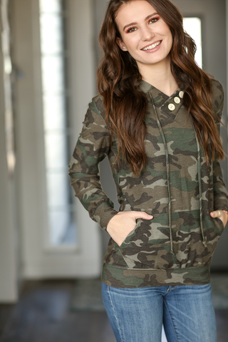Small Yet Mighty Camo Pullover