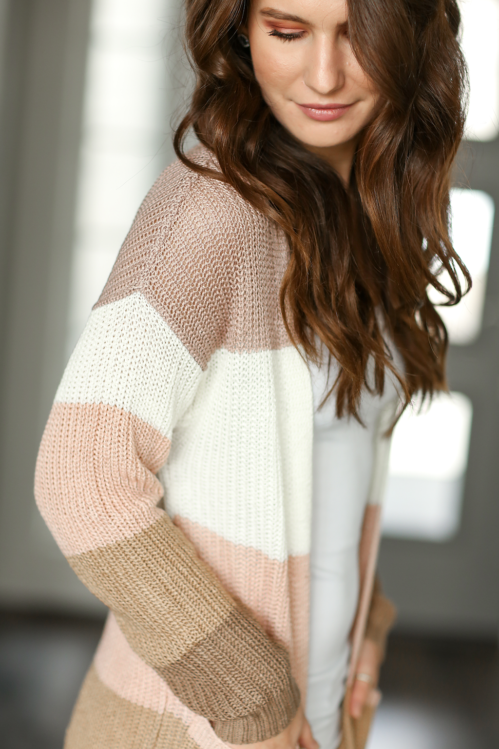 Only Love Cardigan in Mixed Taupe