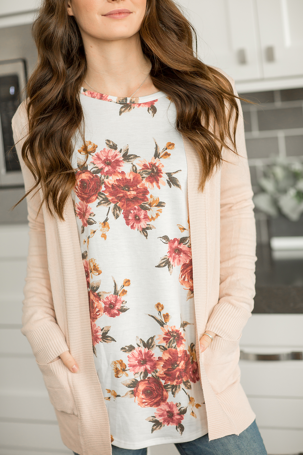 Everyday Cardigan in Blush