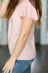 Friendly Glance Blouse in Dusty Pink