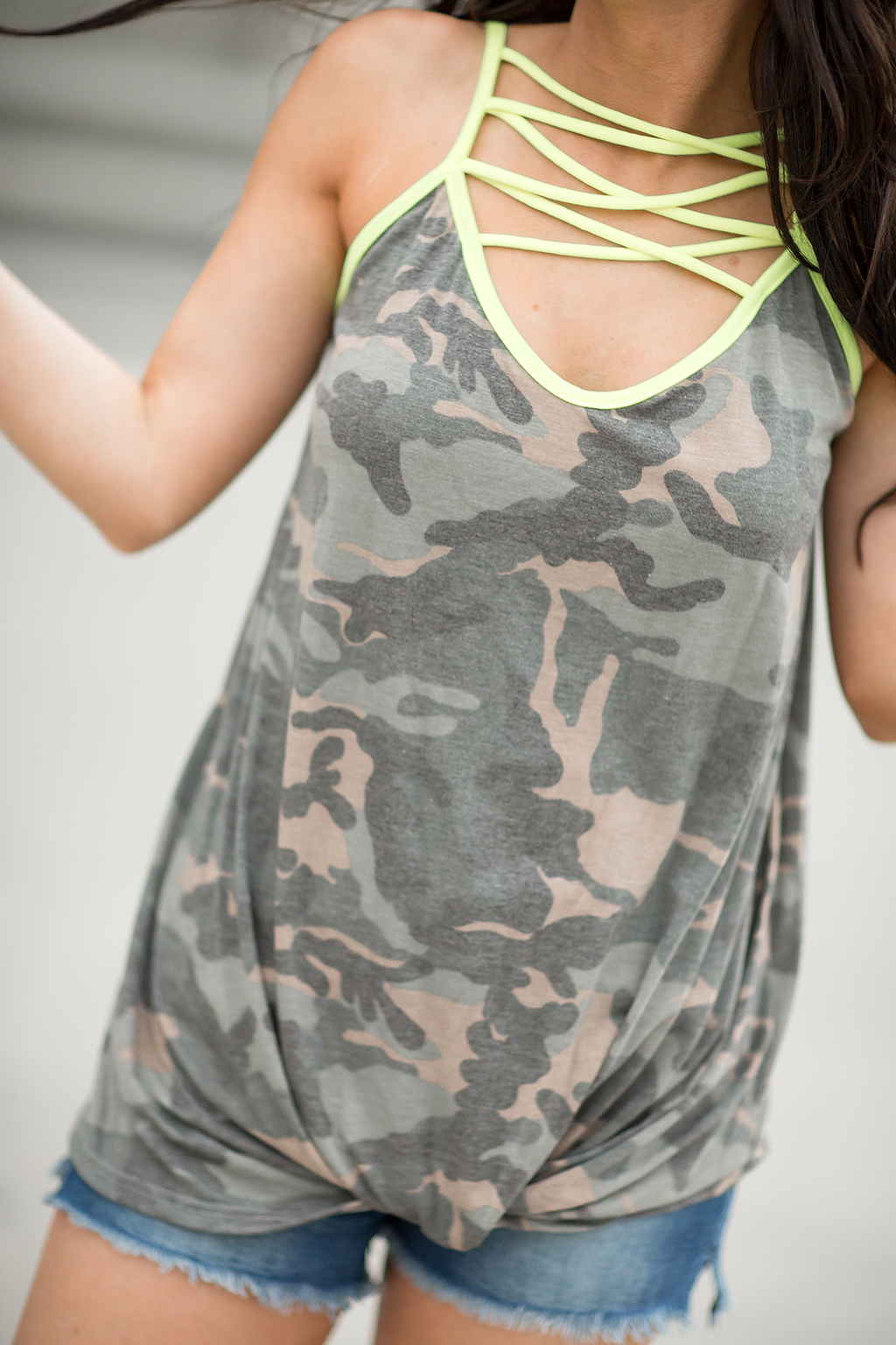 In Good Spirits Tank in Camo (SALE)