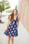 Looking for Love Navy Floral Dress (SALE)