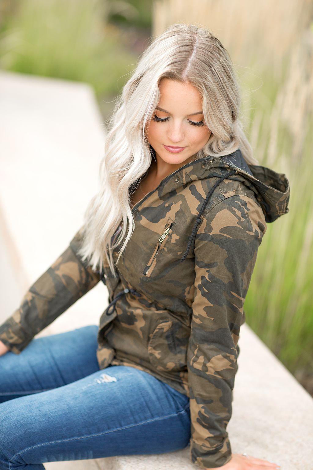 Life's Wonder Cargo Jacket in Camo