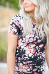 Love Story Floral Dress in Black