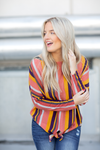 Let's Talk About It Multi Color Striped Top (SALE)