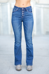 KanCan Always Dreaming Button Boot Cut Jeans