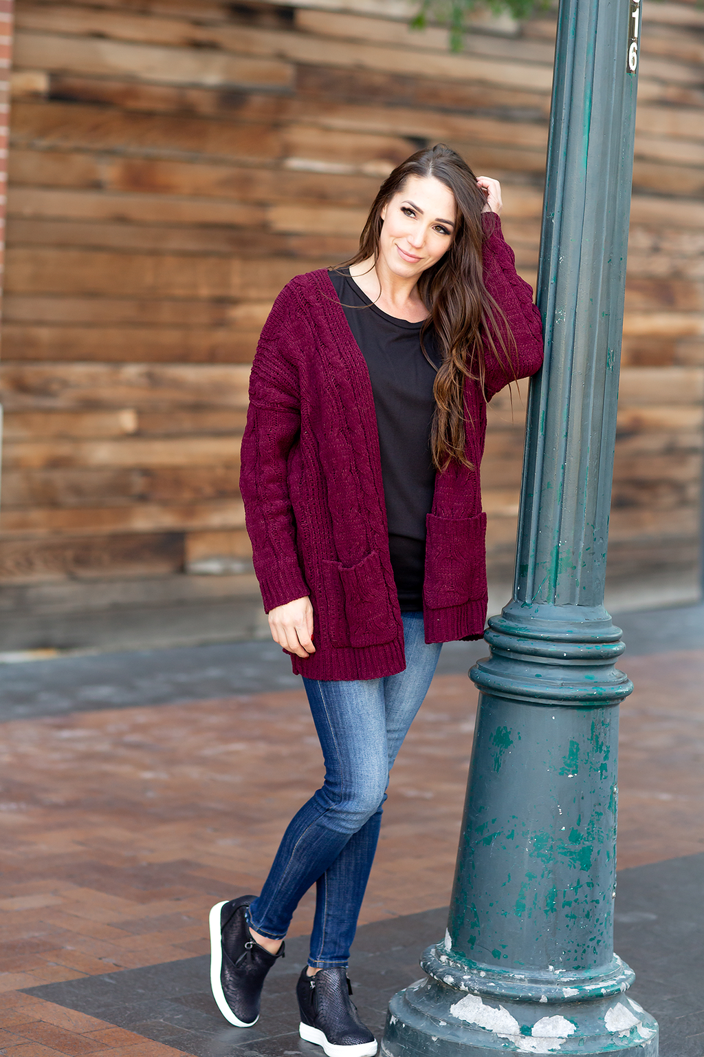 Sweetheart of Mine Cardigan in Maroon
