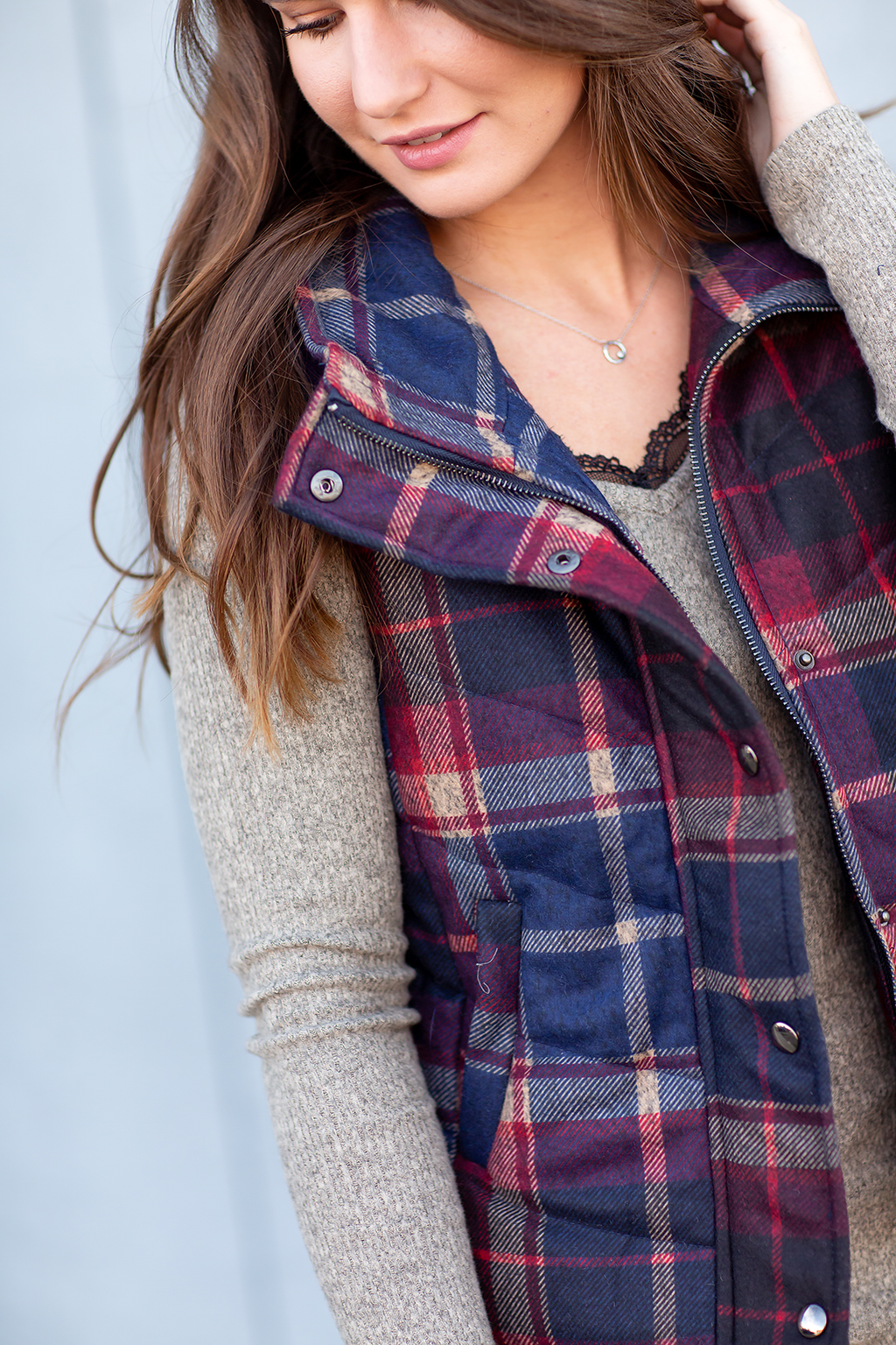 Always a Good Time Vest in Plaid