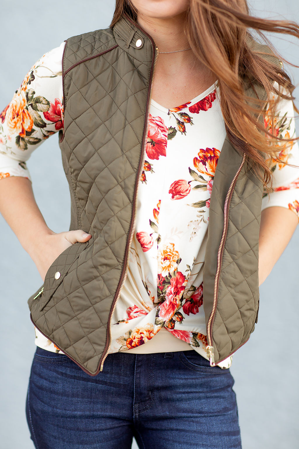 Sincerely Yours Vest in Olive