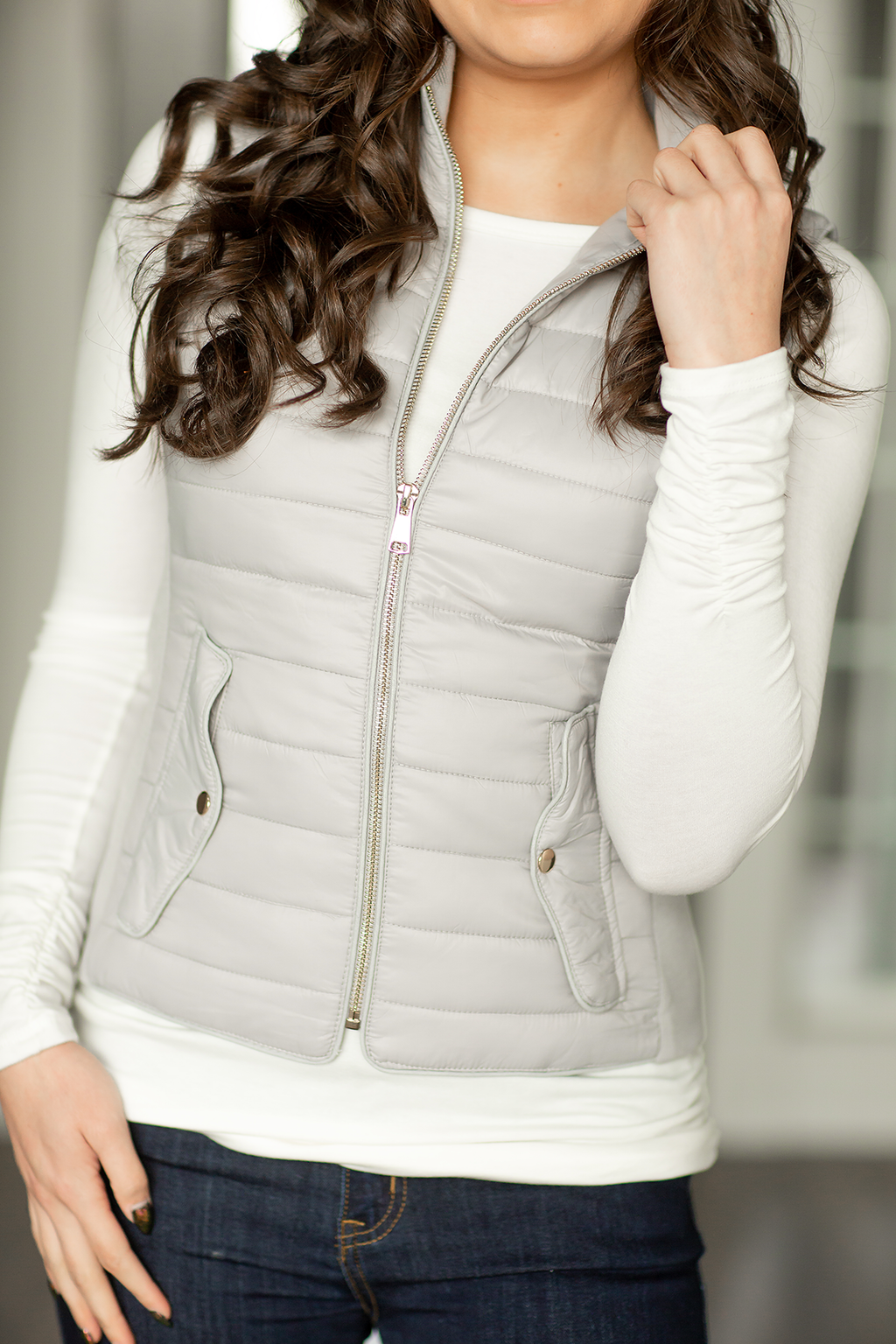 Sweetly Yours Vest in Gray