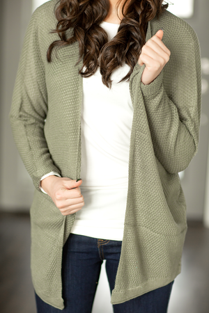 Home with You Cardigan in Sage