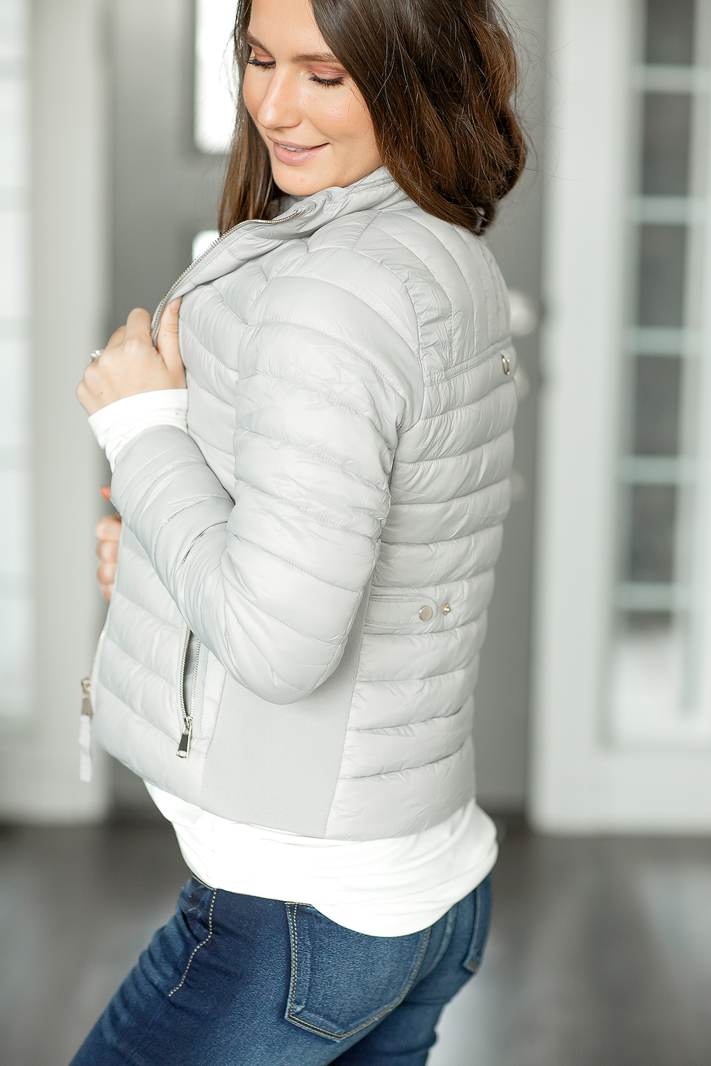 My Way Puffer Jacket in Gray
