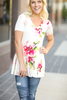 Made To Love Floral Top With  Ruffle Bottom (SALE)