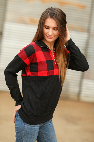 Much Needed Buffalo Plaid Pullover
