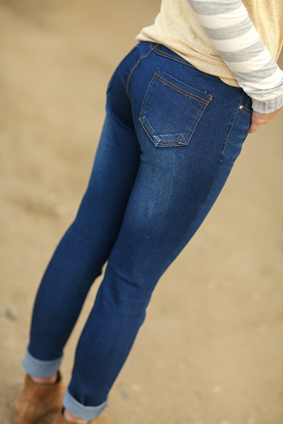 Stolen My Heart Blue Denim Jeggings