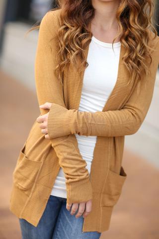 Everyday Cardigan in Gold