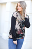 Better Than Ever Floral Top with Criss Cross Detail
