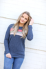 Just What I Need Multi Color Striped Pullover in Navy