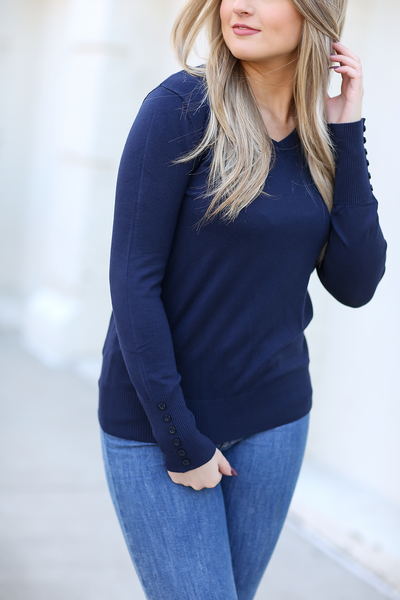 High Standards Sweater in Navy