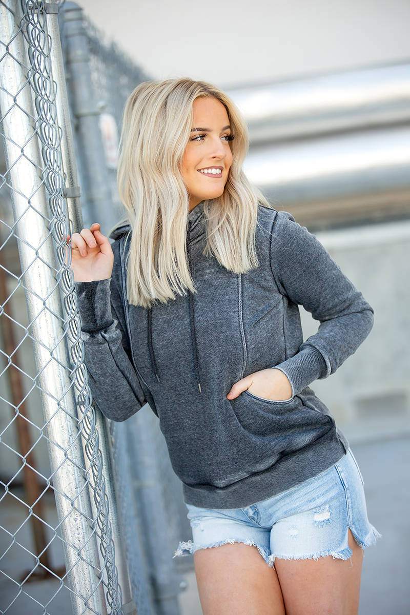 Burnout Hoodie in Charcoal