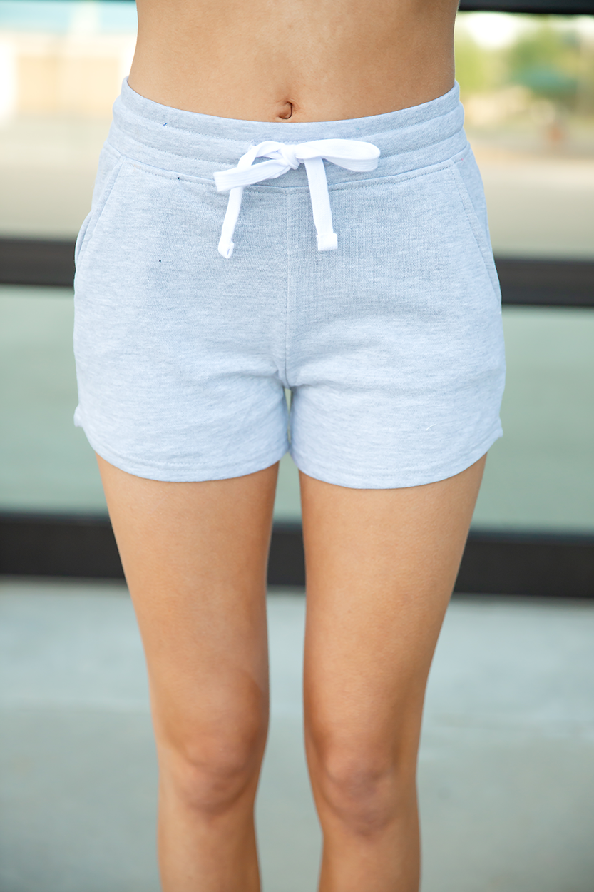 Just Relax Shorts in Heather Gray