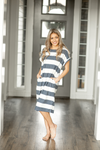 Better Together Striped Dress in Navy and Ivory