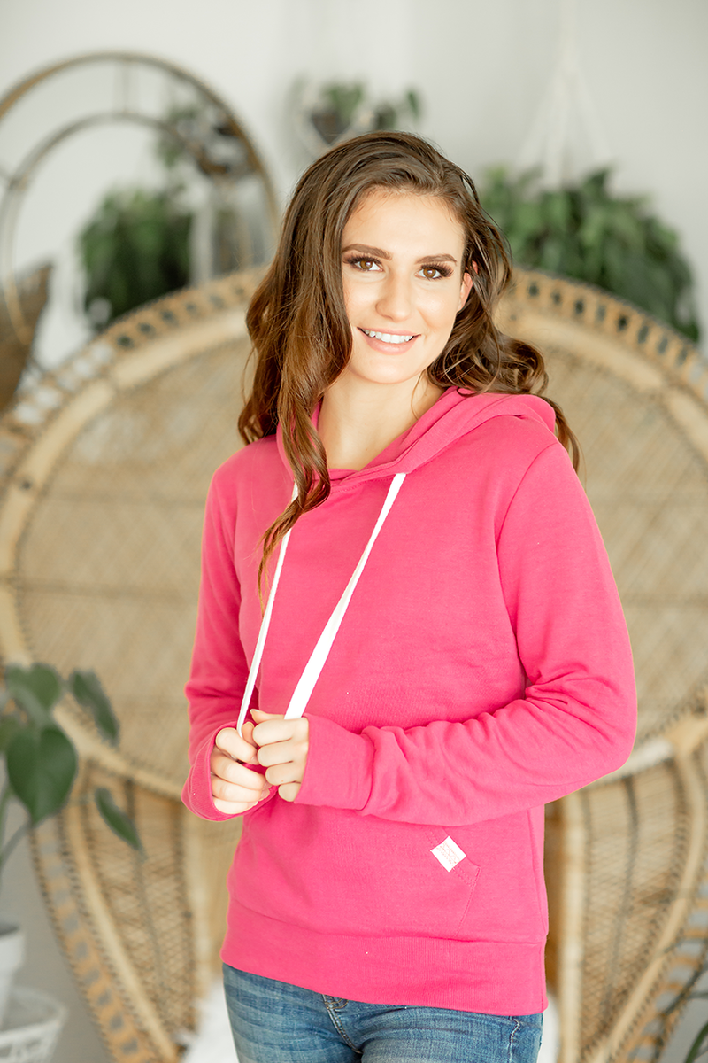 Highlights Hoodie in Deep Pink