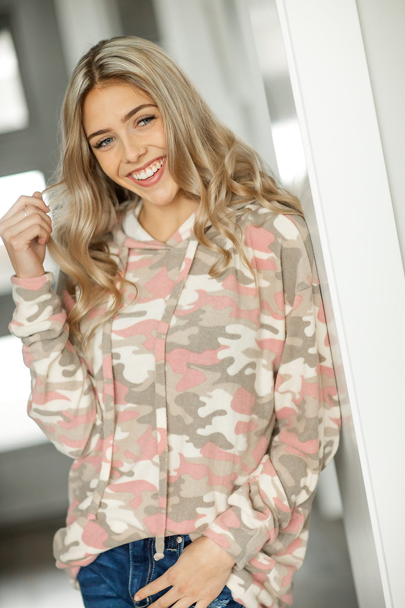 Back to the Beginning Hoodie in Rose Camo