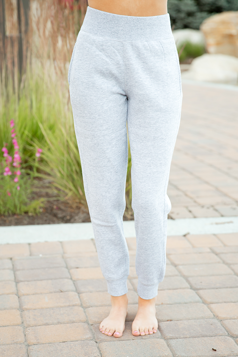 Lazy Days Joggers in Light Heather Grey