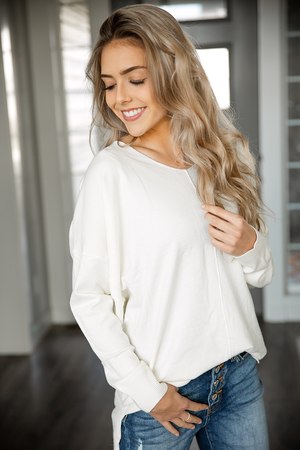 Pure Heart Pullover Sweater in Ivory
